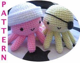 Tako the Pirate / Sailor Octopus Amigurumi Crochet Pattern