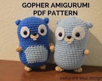 Gopher Amigurumi Crochet Doll Pattern PDF