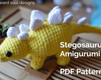 Stegosaurus Amigurumi Crochet Dinosaur PDF Pattern