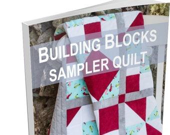 Building Blocks Sampler Quilt | Quilt Pattern & Tutorial with 12 Easy Blocks | Easy Quilt for Beginners