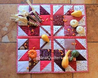 Maple Leaf Bouquet Table Topper Quilt Pattern - Instant PDF Download