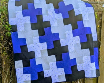 Plus One Modern Lap Quilt Pattern | Instant PDF Download | Easy Quilt Pattern