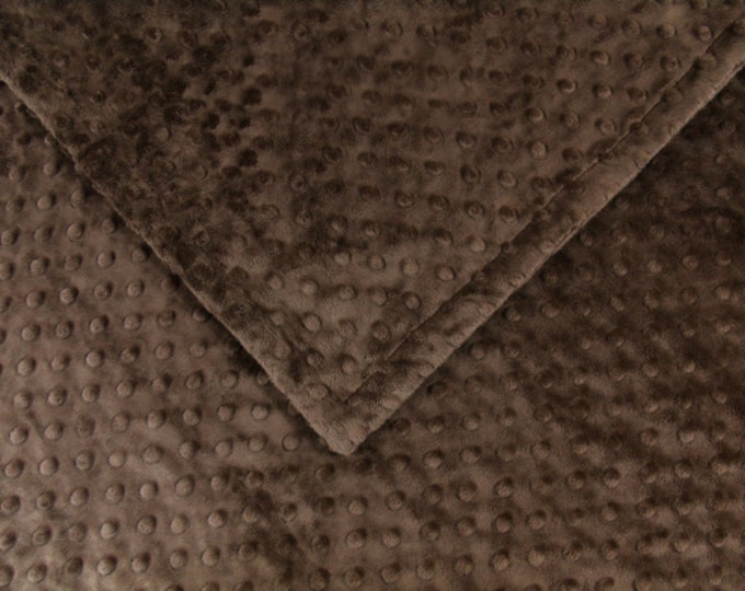 Solid Brown Minky Dot Blanket, , available in three sizes.