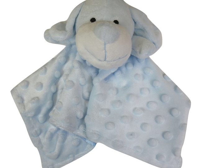 Blue Puppy Security Blanket Embroidery Blank