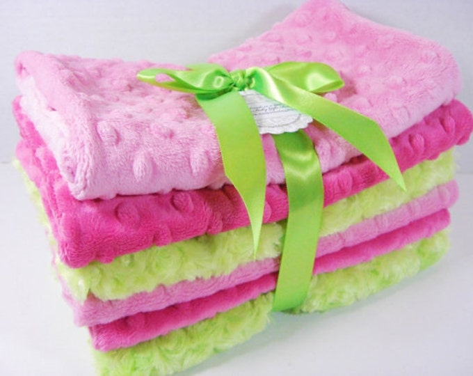 Minky Burp Cloth Set, Choose Your Colors