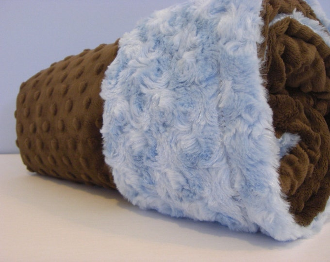 Minky Baby Blanket........ You Choose the Color....