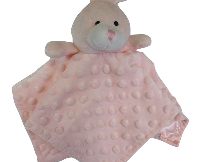 Pink Rabbit Security Blanket Embroidery Blank
