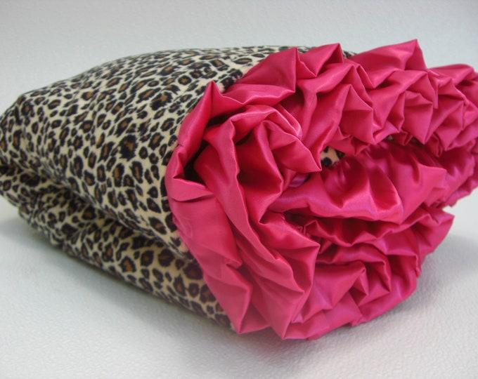Baby Blanket, Minky Baby Blanket, Personalized Blanket, Pink Brown, Pink Girl Blanket, Cheetah Blanket, Leopard Blanket, Embroidered Blanket