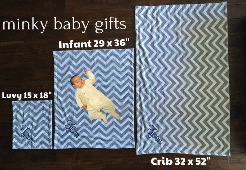 Rosebud Saltwater and Gray Chevron Baby Blanket Gray and Seafoam Green Minky Baby Blanket Swaddle Blanket