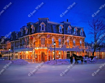 Romantic Winter Getaway, Niagara on the Lake, Ontario Canada Prince of Wales Hotel Architecture Art Photography Print