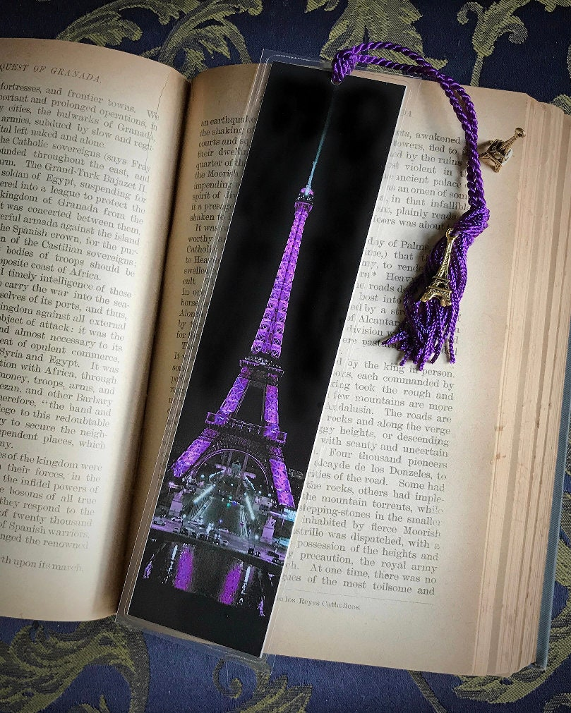 Handmade Purple Eiffel Tower Paris France Laminated Photo Etsy