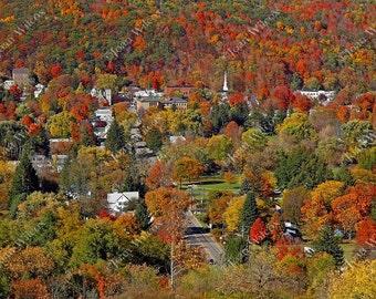 Scenic Autumn Foliage in Hammondsport, NY Fine Art Photography Photo Print
