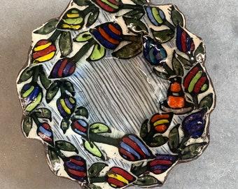 Budding Flower Platter