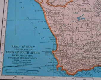 South Africa Map Cape of Good Hope Map South Africa Old Map | Etsy