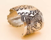 Vintage Floyd and Lloyd Becenti Sterling Kachina Cuff Bracelet