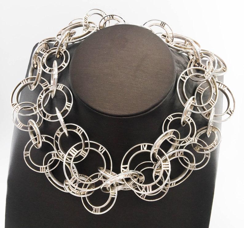 9086d73aa Tiffany & Co Atlas Necklace / Belt Sterling Silver Vintage | Etsy