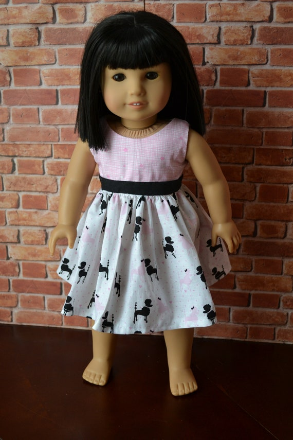 """#1 Pink /& White Doll Dress fits American Girl and other 18/"""" dolls US Seller"""