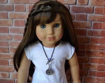 18 inch Doll Clothes -  Mandala Charm Necklace - DOLL JEWELRY - fits American Girl - #007