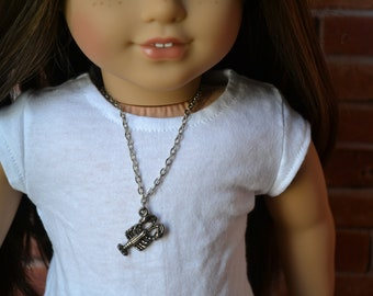 18 inch Doll Clothes -  Lobster Necklace - DOLL JEWELRY - fits American Girl - #005