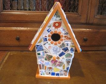 Hand Made Mosaic Bird House