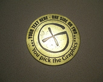 5 Custom pins / coins / keychains for Geocaching