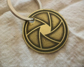 Etched Brass Photography Keychain