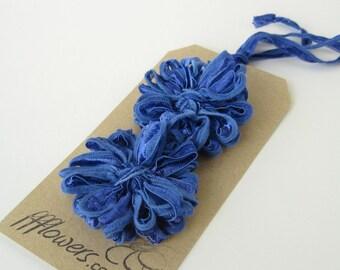 Flower Appliques in Periwinkle Blue Ribbon