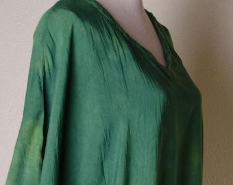 06f9d4e387d Lucky Green Chakra Plus size tie dye hippie hippy boho womens indian 3x xxl  xxxl xxxxl 4x XL ladies top tunic poncho caftan dress rayon 2x