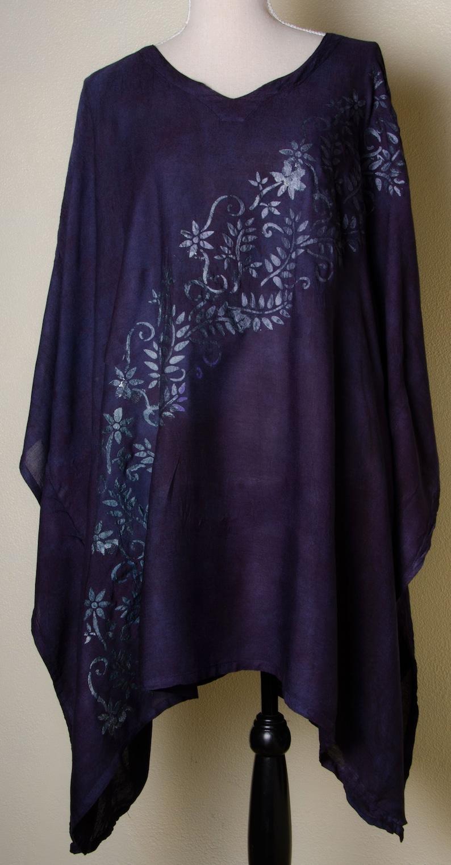 8a9ef066d6 Plus size navy black silver India kaftan womens dress | Etsy