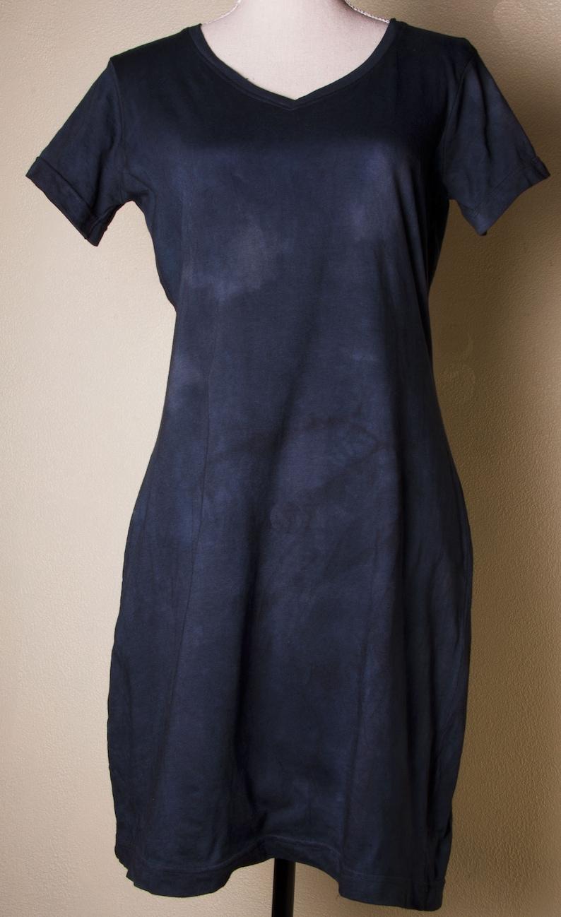 2x Deep space blue black womens plus size dress dresses cotton tie dyed dye  xxl XL 3x 4x clothing boho hippy hippie earthy clothing simple L