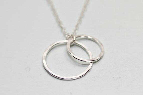 Genoeg Moeder dochter halsketting moeder kind sieraden 2 cirkel | Etsy @JS91