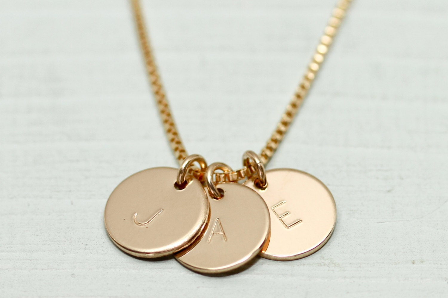 gold disc necklace dainty gold necklace initial necklace. Black Bedroom Furniture Sets. Home Design Ideas