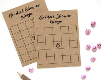 Printable Bridal Shower Bingo - Bridal Shower Bingo Game - Bridal Shower Bingo Cards - Ring Bridal Shower Game - Rustic Bridal Shower Games