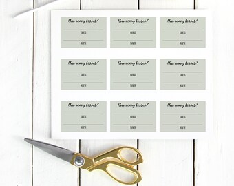 How Many Kisses Cards - Printable Bridal Shower Game - Cards with Sign Included - Spring Wedding