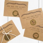 Who Has the Ring Game - Rustic Bridal Shower Game - Scratch Off Cards - Who Has the Bling - Wedding Ring Game - Rustic - Fall Bridal Shower