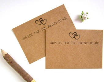 Advice for the Bride Cards - Bride To Be Advice Card - Bridal Shower Advice Cards - Bridal Shower Games - Rustic Bridal Shower - Printed