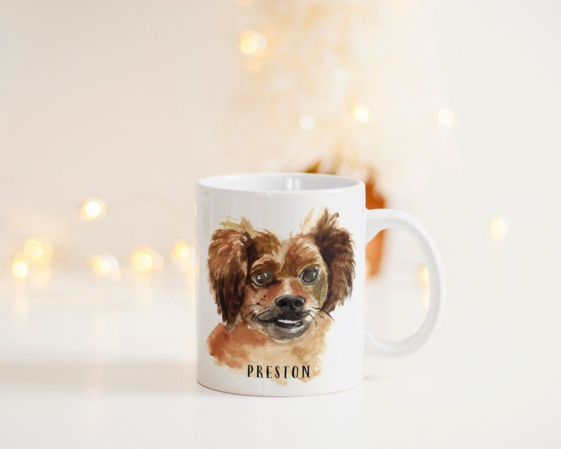 Custom Pet Mug  Personalized Pet Mug  Pet Portrait Mug  image 0