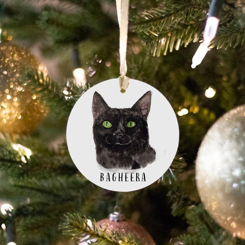 Pet Memorial Ornament  Custom Pet Memorial  Pet Loss Gift  image 0