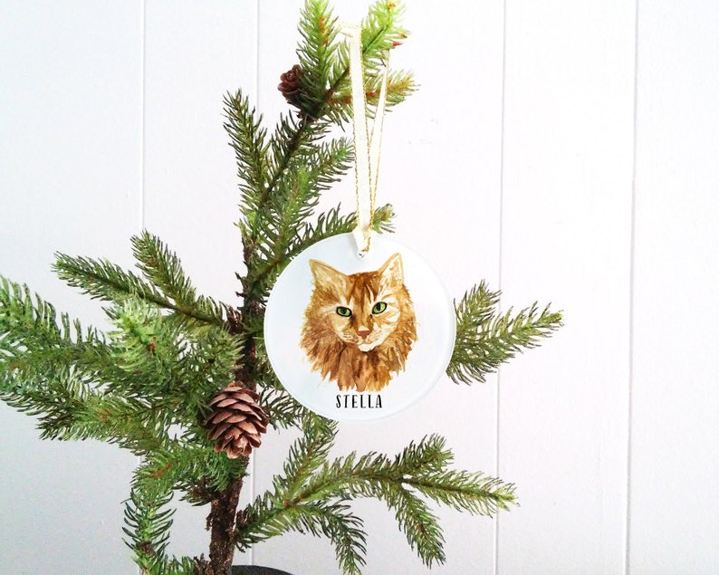 Custom Cat Ornament  Cat Christmas Ornament  Personalized image 0