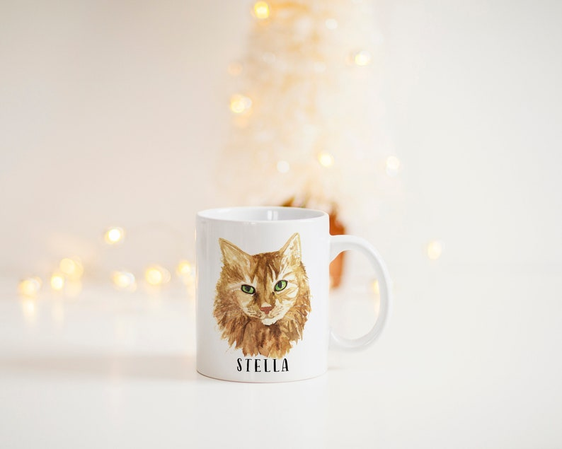 Custom Cat Mug  Custom Pet Mug  Cat Mom Mug  Personalized image 0