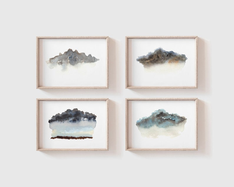 Abstract Cloud Painting Collection  Minimalist Wall Art  image 0