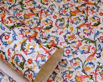 4 Sheets- Florentine Paper #1- 9x12