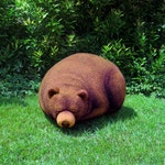 Sleeping Grizzly Cub Beanbag - Free shipping world-wide