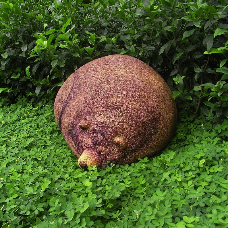 Sleeping Grizzly Bear Beanbag  Free shipping world-wide image 0
