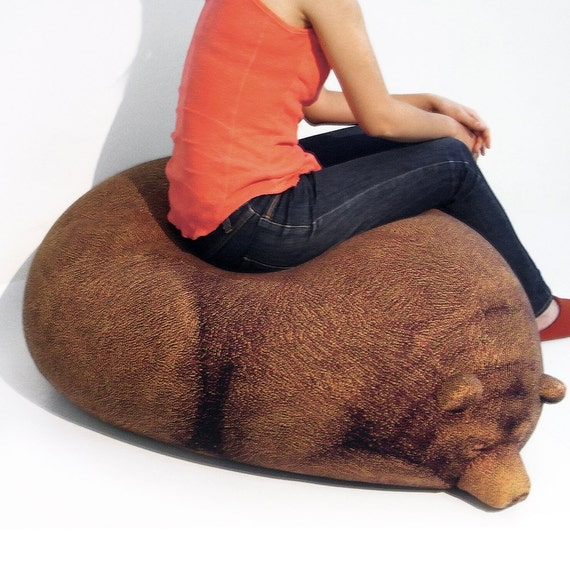 Admirable Sleeping Grizzly Bear Beanbag Free Shipping World Wide Machost Co Dining Chair Design Ideas Machostcouk