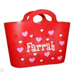 Personalized Bubble Tote / Gift Basket - Valentine's Day / Hearts