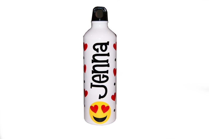 Personalized Aluminum Water Bottle  25 fl.oz.  Emoji image 0