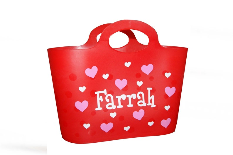 Personalized Bubble Tote / Gift Basket  Valentine's Day / image 0