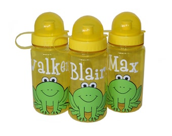 Personalized Water Bottle - Frog
