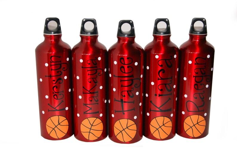 Personalized Aluminum Water Bottle  25 fl.oz.  Basketball image 0